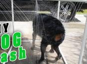 fabrique douche d'extérieur pour chien avec tuyaux PVC. idée géniale!