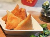 Samosas crevette, menthe fromage chèvre frais