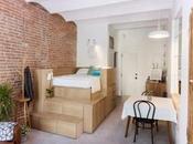 studio aménagé avec mobilier intelligent