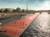 Paris, piste d'athlétisme flottante sera installée Seine juin