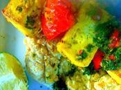 Kebabs l'indienne avec petite sauce menthe naans rapidos