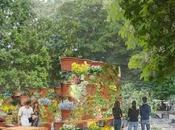 VAL'HOR Découvrez Jardins, Jardin Paris, Tuileries, juin 2017, pots-M imaginé paysagiste concepteur Michel Pena, partenariat avec l'AJJH