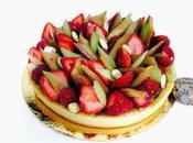 Tarte Rhubarbe fraises Claire Heitzler pour fête mères