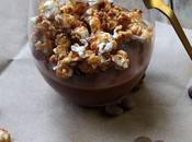 Crème chocolat facile rapide sans cuisson pop-corn caramélisés
