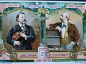 Chromos Liebig: musiciens virtuoses dans l'entourage Wagner