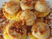 Tranches boudin blanc pommes chapelure pain d'épices