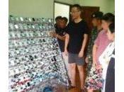 Asie ferme clics avec iPhone 347200 cartes découverte
