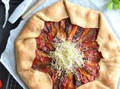 Tarte rustique poivrons graines germées