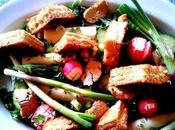 Salade d'asperges, concombres, coeurs palmiers, autres joyeusetés