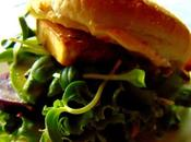 Hamburger club sandwich frites légumes four