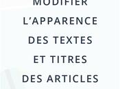 Modifier textes titres articles Blogger