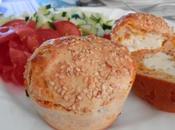 Muffins salés saumon, mimolette coeur babybel