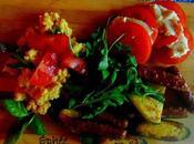 Polenta, légumes saucisses