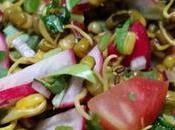 Salade haricots mungos germés Sprouted mung beans salad