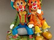 Couple clown procelaine froide