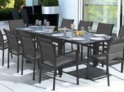 Table salon jardin aluminium solde table