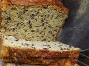 Cake courgette bas, farine pois chiches sans gluten,
