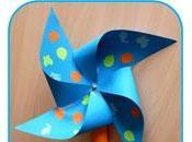 Fabriquer tourniquet moulin vent papier