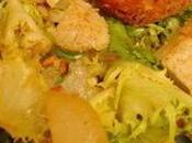 Salade verte croûtons tofu fumé