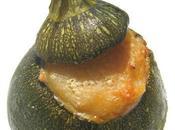 Courgettes rondes farcies confit canard, façon parmentier