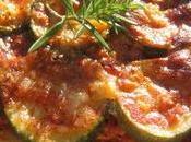Pizza Courgettes, l'Ail Parmesan