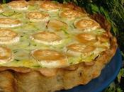 Tarte courgettes chèvre, pâte croustillante fromage blanc noix
