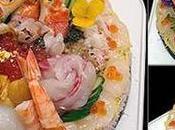 Sushi gâteau d'anniversaire