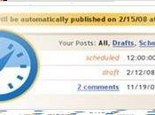 Planifier publication posts Blogger