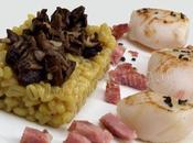 Coquilles saint-jacques l'orge perlee risotto alla milanese