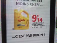 Auchan d'école pour prouver qu'on moins cher