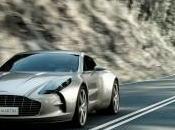 Salon Genève l'Aston Martin One-77 montre dessous