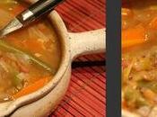 Soupe repas rouge lentilles plates