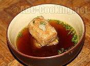 Agedashi-dôfu, tofu frit bouillon parfumé
