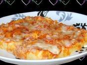 pizza souflée (pâte sans aucun pétrissage)