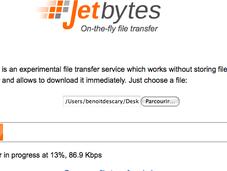 Partagez fichiers temps réel avec Jetbytes