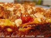 Cheesecake basilic tomates cerises
