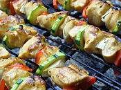 Brochettes poulet moutarde