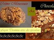 Verrine crème (légère)-ment mousseuse chocolat tofu soyeux façon tiramisù spéculoos