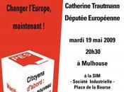 Elections Européennes juin 2009 Meeting Catherine Trautmann Mulhouse soir