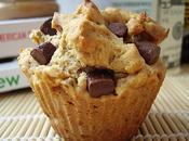Muffins beurre cacahuètes, sirop maïs pépites chocolat