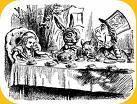 lièvre Mars attacks Alice pays merveilles, petite fille sixties (1865 mais mod(erne) tout, tout