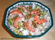 salade d'endive l'avocat, noix crevettes