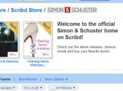 YouTube livre, Scribd, ouvre boutique Simon & Schuster