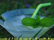 Citronnade l'eau rose menthe bergamote