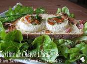 Tartine Chèvre Chaud Tartare Tomates Echalotes