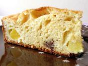 Gâteau yaourt, pêches Toblerone (version légère)