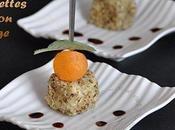 Piques apéritives melon-roquefort-noisettes, balsamique porto