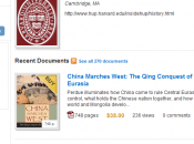 Harvard ouvre boutique 1000 ouvrages Scribd