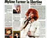 Revue presse Mylène Farmer libertine