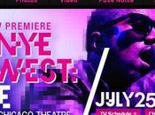 "Samedi Juillet ""Première mondiale"" concert Kanye West direct théatre chicago"
